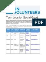 Tech Jobs Social Good Unvaugust