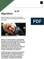 The Finiteness of Algorithms | transmediale