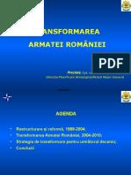 Transformarea Armatei Romane