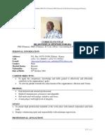 DR. OMBABA B. MWENGEI KENNEDY CURRICULUM VITAE