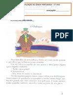 Ficha Avaliação Português Fevereiro
