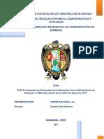 Pefil de Competencias Gerenciales y El Mercado Laboral.