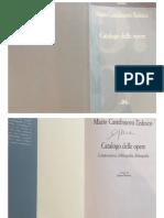 Catalogo Castelnuovo Tedesco
