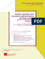 Breakfast Gender Equality and women's empowerment in trade policy