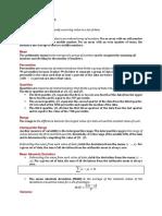 Univariate Statistics