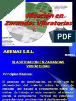 Clasificacion en Zarandas Vibratorias