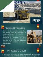 Introduccion a La Mineria-expo Transporte y Acarreo-grupo 5
