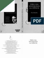 BOURDIEU, P. Para Uma Sociologia Da Ciência