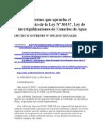 Reglamento de La Ley 30157