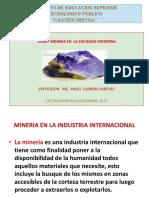 La Mineria en La Sociedad Moderna