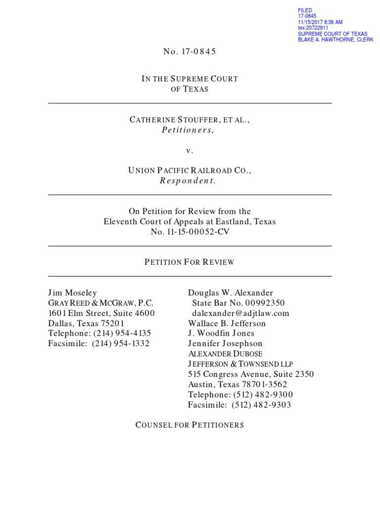 catherine stouffer et al v union pacific railroad co federal rh scribd com Gcor Practice Test Gcor Study Guide 2014