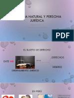 Persona Natural y Persona Jurídica