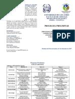 Programa Semana Aniversario LIAQIA