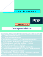 Conferencia 1 Circuitos I Conceptos Básicos