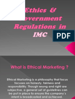 Ethics & Government Regulations in Integrated Marketing Comm.
