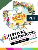 Programme Festisol 2017 Festival Solidarites Solidarite Internationale Semaine Morlaix Maison