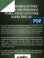 1.1.1consideraciones de Las Propieddes Para Aplicaciones Especificas