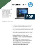 Descripcion HP Elitebook 820 g4
