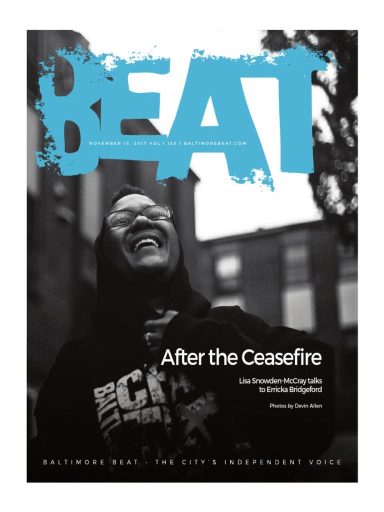 Baltimorebeat.com, Volume 1, Issue 1, November 15, 2017 | Journalism |  Entertainment (General)