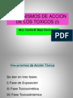 Clase 2 a Fases y Mecanismos de Accion de Los Toxicos (i)