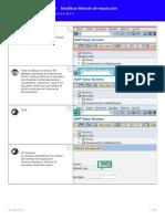 Modulo QM- Modificar Método de Inspección