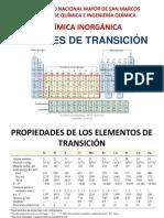 Clase 16 Sem 12 Metales de Transición I unmsm