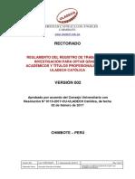 Reglamento Registro Trabajos Investigacion Grados Academicos Titulos v002