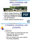 Modeling Uncertainty With Probability