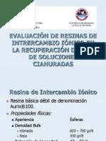 Evaluación de Resinas de Intrercambio Iónico en La