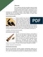 Tipos de Instrumentos Musicales