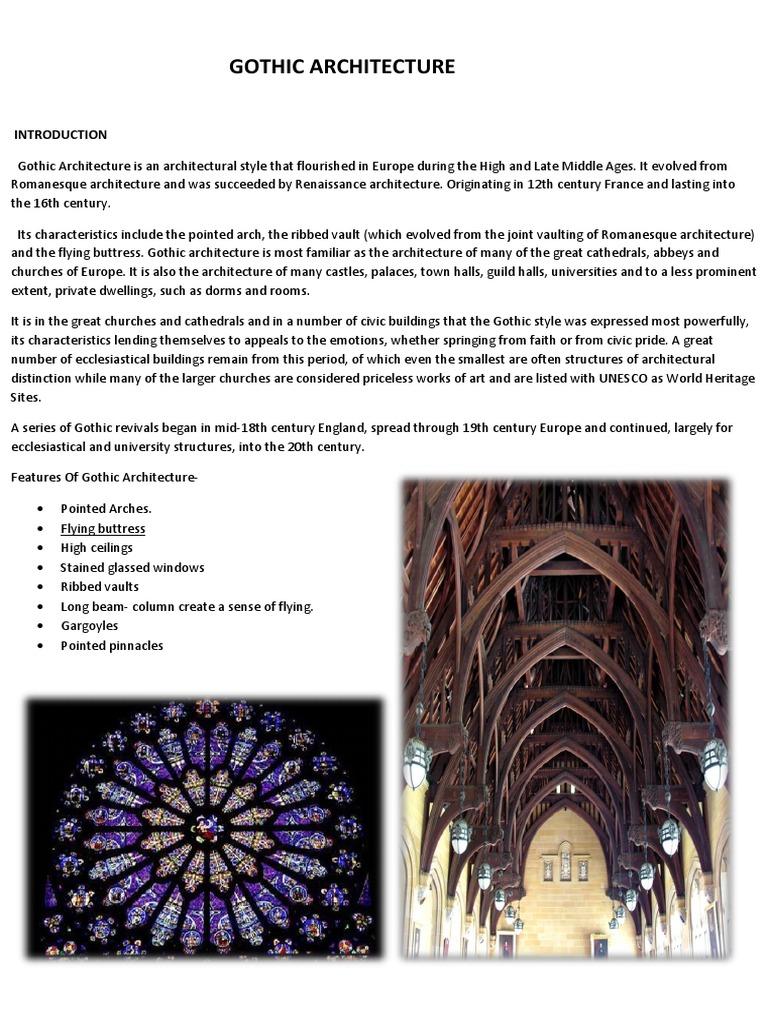 gothic report gothic architecture vault architecture