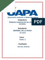 Tarea 2, Didactica Especial de Las Ciencias Sociales