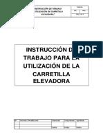 Instrucción de Trabajo Para La Utilización de Carretilla Elevadora