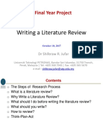 Writing a Litrature Review_FYP Sep 2017