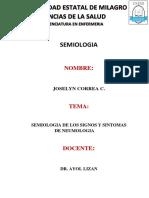 Semiologia de Los Signos y Sintomas de Neumologia.