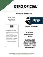 Acuerdo Ministerial 028 Sustituye El Libro VI Del TULSMA