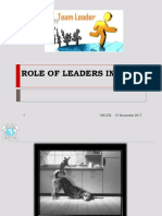 Role of Team Leader
