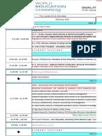 Program Schedule - WEC
