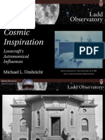 Cosmic Inspiration Lovecraft's Astronomical Influences by Brown University