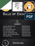 NHTM - Bills of Exchange