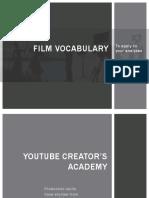 Filmic Vocabulary