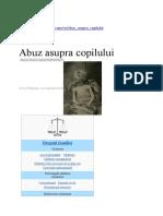 Abuz Asupra Copilului ARTICOLE LEGE