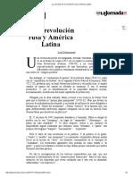 La Jornada_ de La Revolución Rusa y América Latina