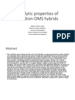 Catalytic Properties of Dendron OMS Hybrids