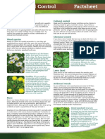 Lawn Weed Control Factsheet 2015