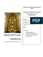 ARQUITECTURA BARROCA- estructura