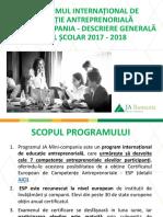 Descrierea Generala a Programului JA Mini-compania 2017-2018