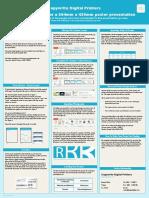 Copywrite Digital Printers Template - A2 Poster