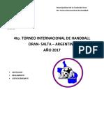 Invitacion Torneo Internacional Oran 2017