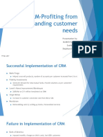 CRM -Profiting From Understanding Customer Needs Presentation